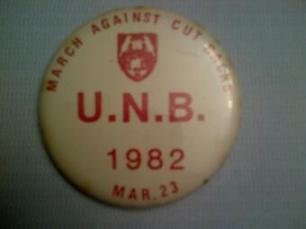 UNB button 1982